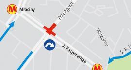 Utrudnienia ruchu przy Kasprowicza, Przy Agorze i Sokratesa.
