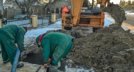 Reymonta: poczatek zimy - pierwsze poważne awarie wodociągowe