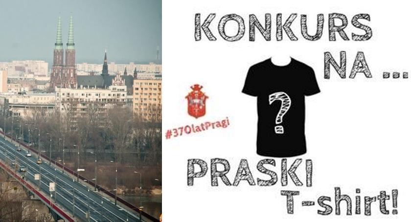 Urząd dzielnicy, Konkurs Praski shirt okazji lecia nadania miejskich Pradze - zdjęcie, fotografia