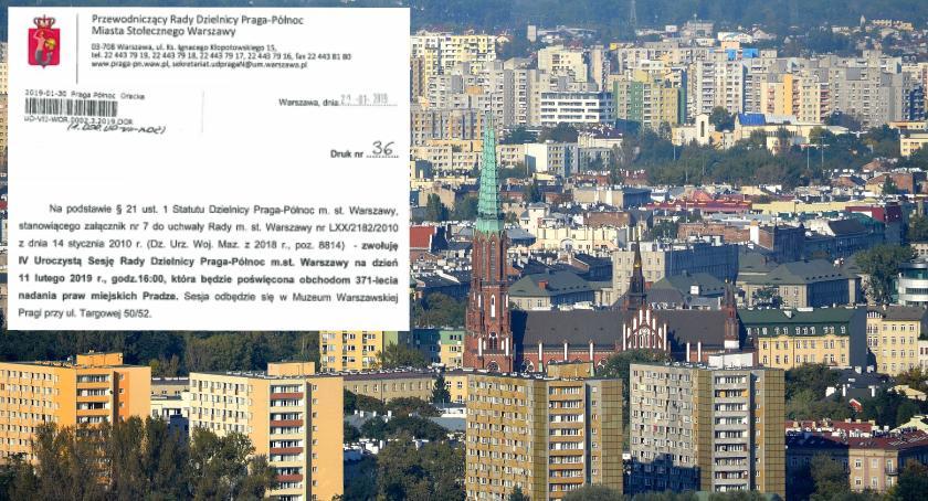 Urząd dzielnicy, Uroczysta Sesja Dzielnicy poświęcona obchodom lecia nadania miejskich Pradze - zdjęcie, fotografia