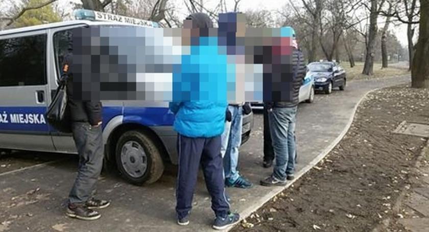 Na sygnale, Strażnicy miejscy ujęli pięciu sprawców rozboju - zdjęcie, fotografia