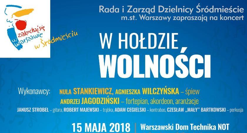 Muzyka, hołdzie Wolności Koncert Warszawskim Technika - zdjęcie, fotografia