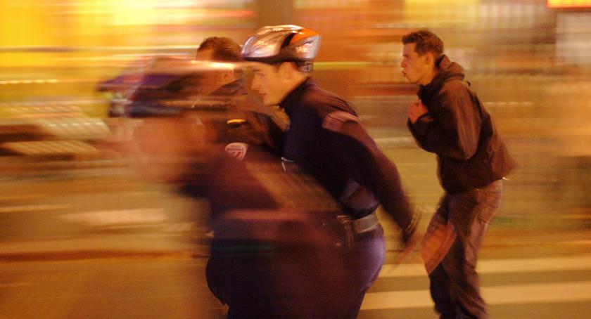 Komunikacja, NightSkating kolejny Warszawie - zdjęcie, fotografia