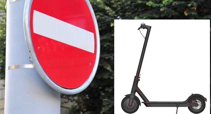 Komunikacja, Elektryczne hulajnogi mają zakaz wjazdu Łazienek - zdjęcie, fotografia