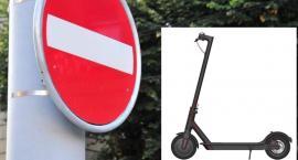 Elektryczne hulajnogi mają zakaz wjazdu do Łazienek