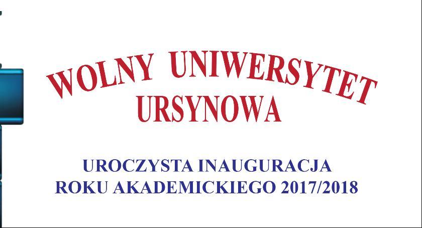 Kursy i szkolenia, Wolny Uniwersytet Ursynowa rozpoczyna działalność akademickim 2017/2018 - zdjęcie, fotografia
