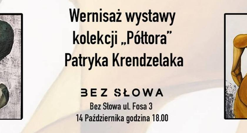 Wystawy, Wernisaż wystawy Półtora Galeria Słowa - zdjęcie, fotografia