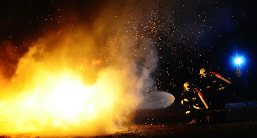 Bezpieczeństwo, Pożar Stryjeńskich - zdjęcie, fotografia