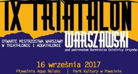 IX Triatlon Warszawski już jutro! Patronem imprezy burmistrz Ursynowa.