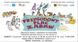 """Warsztaty """"Przygodowy plac zabaw"""" od 14 października"""
