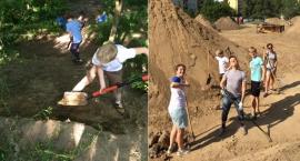 Rowerzyści remontują tor na Górce Kazurce