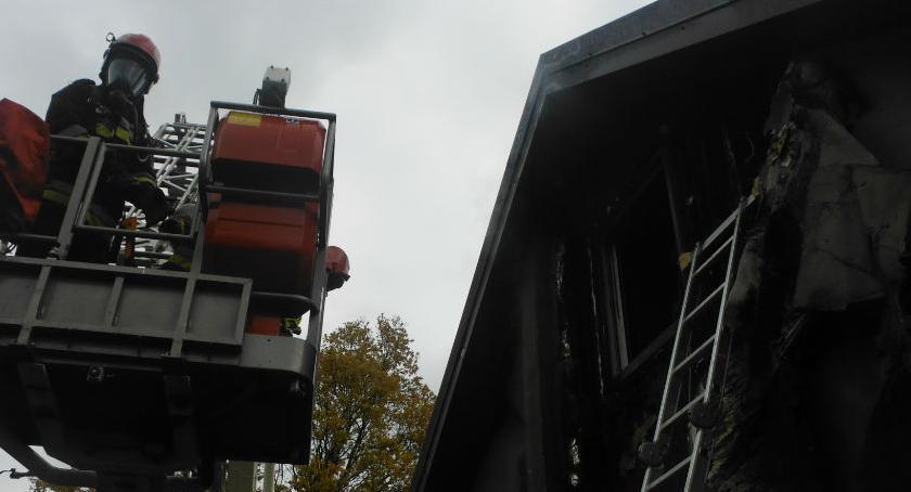 Bezpieczeństwo, Pożar Podkowy - zdjęcie, fotografia