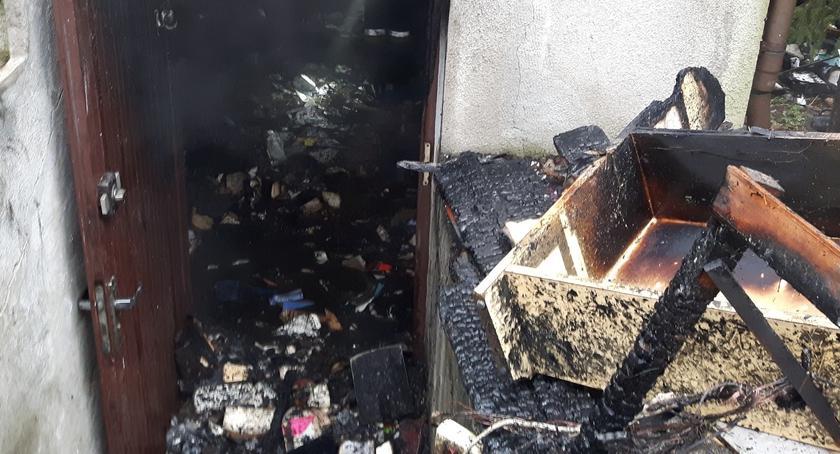Bezpieczeństwo, Pożar Kajki [zdjęcia straży] - zdjęcie, fotografia