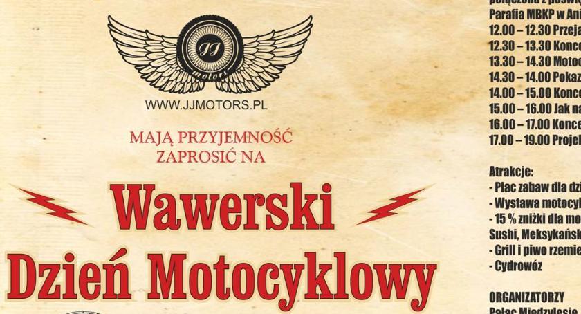 Imprezy, Wawerski Dzień Motocyklowy najbliższą sobotę! - zdjęcie, fotografia