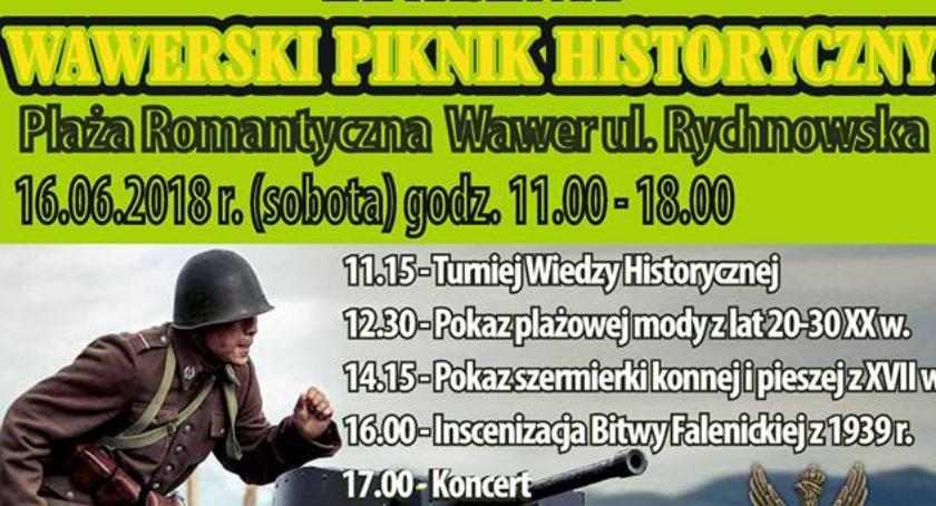Imprezy, Wawerski Piknik Historyczny czerwcu - zdjęcie, fotografia