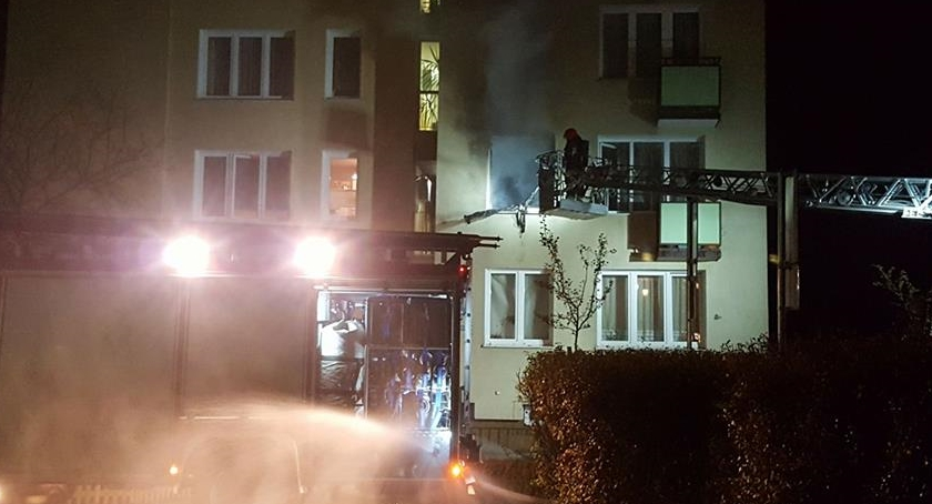 Bezpieczeństwo, Pożar Marysinie szczęście nikomu stało - zdjęcie, fotografia