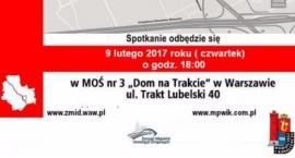 Przebudowa Wału Miedzeszyńskiego - spotkanie informacyjne.