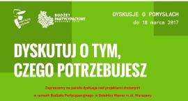 Dyskusje o projektach budżetu obywatelskiego.