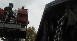 Pożar domu przy Podkowy