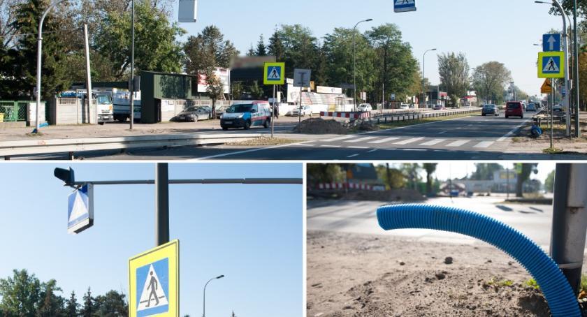 Ulice i place, budowa świateł zbiegu Traktu Brzeskiego Jeździecką - zdjęcie, fotografia
