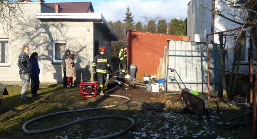 Bezpieczeństwo, Pożar budynku Kalinowej - zdjęcie, fotografia