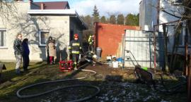 Pożar budynku przy ul. Kalinowej