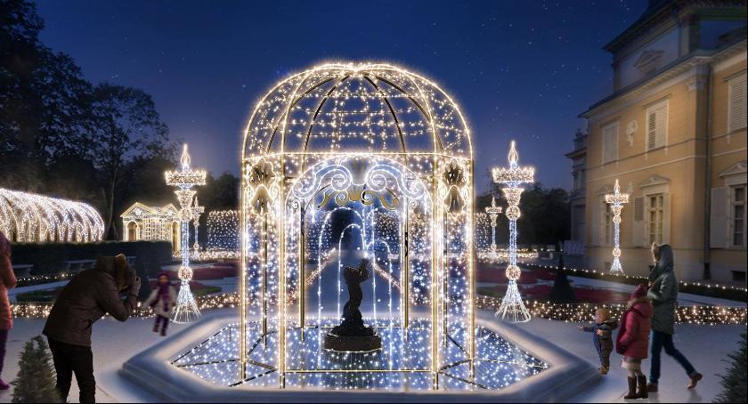 Wystawy, Królewski Ogród Światła Muzeum Pałacu Króla Wilanowie - zdjęcie, fotografia