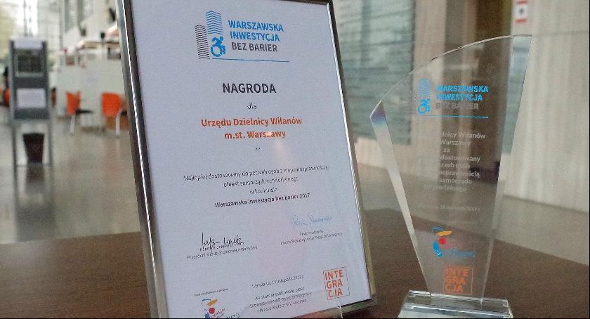 Urząd dzielnicy, Urząd Dzielnicy Wilanów laureatem nagrody konkursie