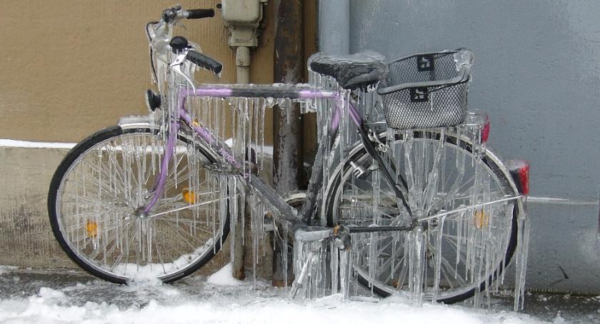 Rower, Widoczność życie rower siadamy również zimą - zdjęcie, fotografia
