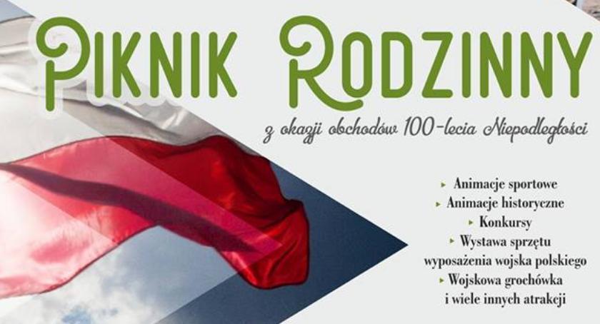 Imprezy - wydarzenia, Sztafeta Niepodległości Piknik Rodzinny Parku Szymańskiego - zdjęcie, fotografia