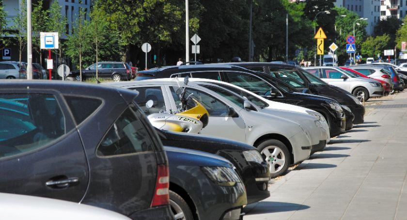 Komunikacja, Strefa płatnego parkowania Odolanach - zdjęcie, fotografia