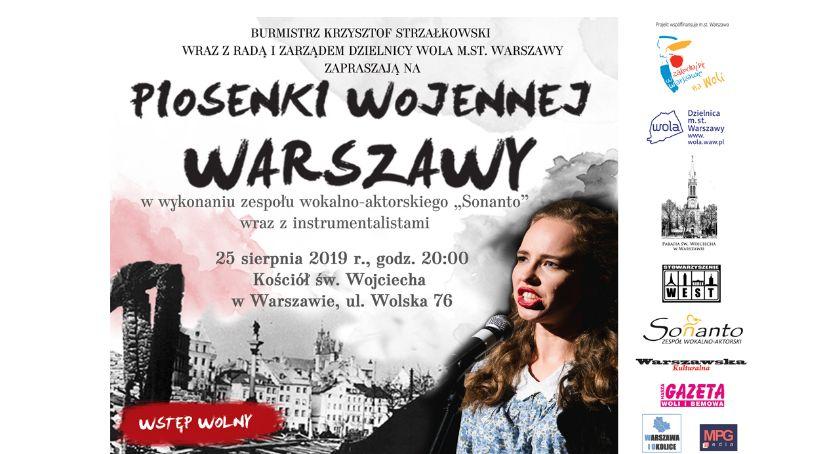 Koncerty – muzyka – płyty, Koncert Piosenki wojennej Warszawy Woli! - zdjęcie, fotografia