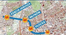 Początek prac przy stacji metra Płocka.