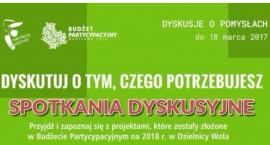 Budżet partycypacyjny 2018 – spotkania dla mieszkańców.