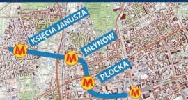 Jaka organizacja ruchu przy stacji metra Płocka?