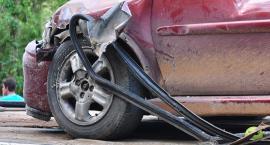 Zderzenie samochodów na ul. Ciołka