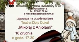 """Przedstawienie """"Mikołaj z Aniołami"""" Teatru Złoty Dukat"""