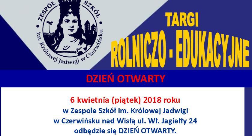 Oświata, Zespół Szkół Królowej Jadwigi Czerwińsku Wisłą kwietnia dzień otwarty - zdjęcie, fotografia