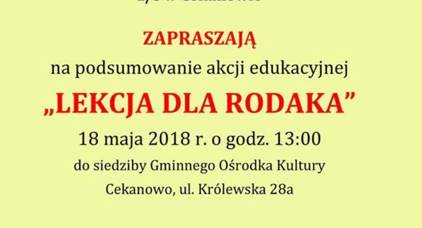 Ludzie, Podsumowanie akcji Lekcja Rodaka Gminny Ośrodek Kultury Słupno Cekanowie - zdjęcie, fotografia