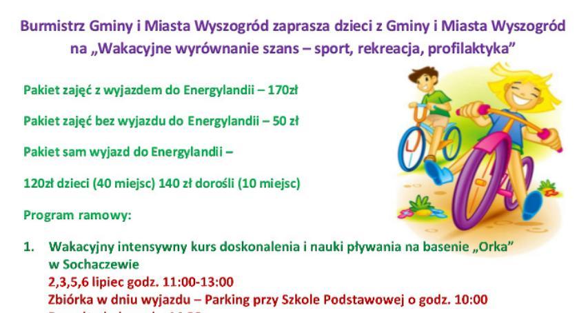Oświata, Letnie Wakacje Wyszogród - zdjęcie, fotografia