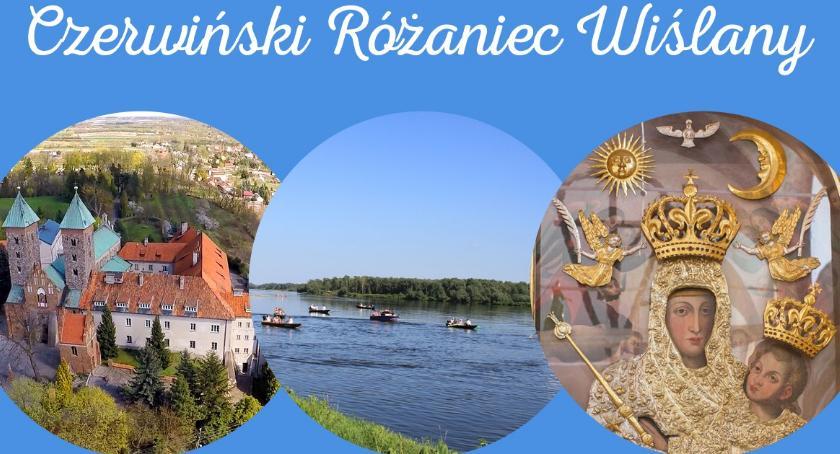Religia, Różaniec wiślany Czerwińsku Wisłą - zdjęcie, fotografia