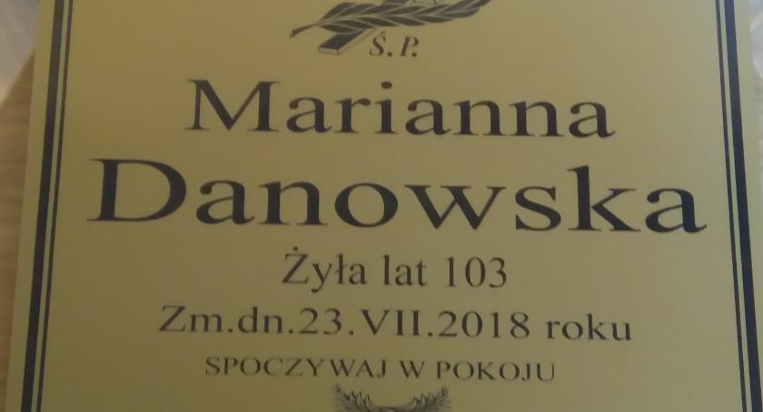 Ludzie, Zmarła najstarsza mieszkanka Gminy Wyszogród - zdjęcie, fotografia