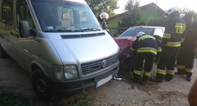 Wypadki, Kolizja Drwałach - zdjęcie, fotografia