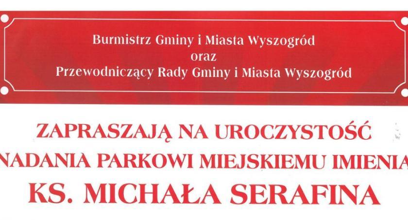Historia, Uroczystość nadania parkowi miejskiemu imienia Michała Serafina - zdjęcie, fotografia