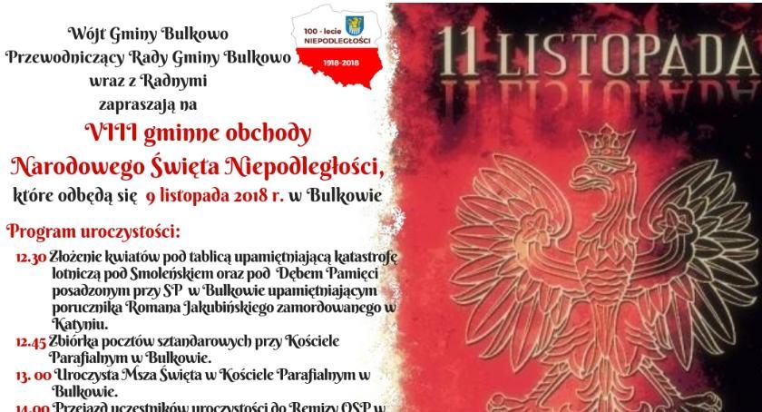 Historia, Gminne obchody Narodowego Święta Niepodległości Bulkowie - zdjęcie, fotografia