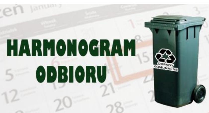 Samorząd, Wyszogród Harmonogram odbioru odpadów komunalnych - zdjęcie, fotografia