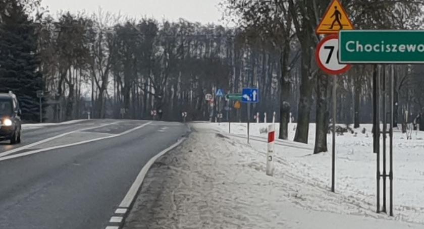 Gospodarka, Chociszewo oznakowanie drodze - zdjęcie, fotografia