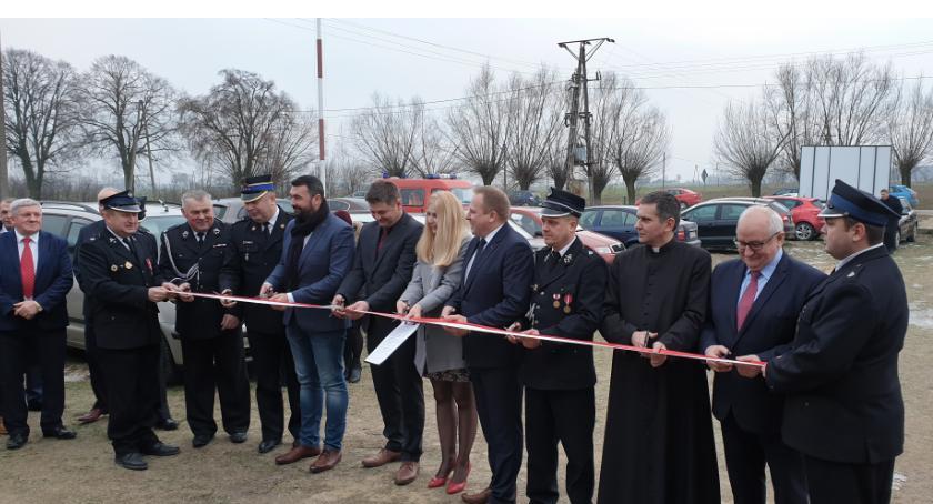 Samorząd, Uroczyste otwarcie Remizy strażackiej Worowicach - zdjęcie, fotografia