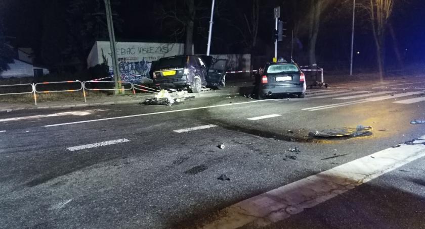 Wypadki, Wypadek skrzyżowaniu Wyszogrodzie - zdjęcie, fotografia