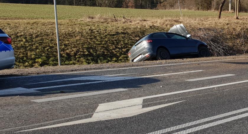 Wypadki, Wypadek drodze miejscowości Chmielewo - zdjęcie, fotografia
